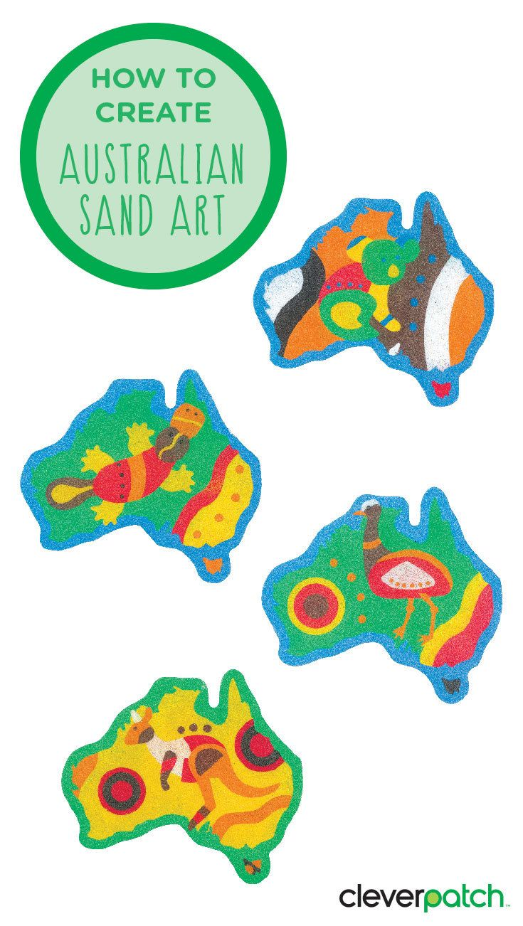 Peel away the adhesive backing and add sand. So simple! Great for NAIDOC Week!