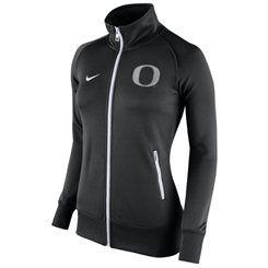 Women's Nike Black Oregon Ducks Stadium Classic Full Zip Track Jacket