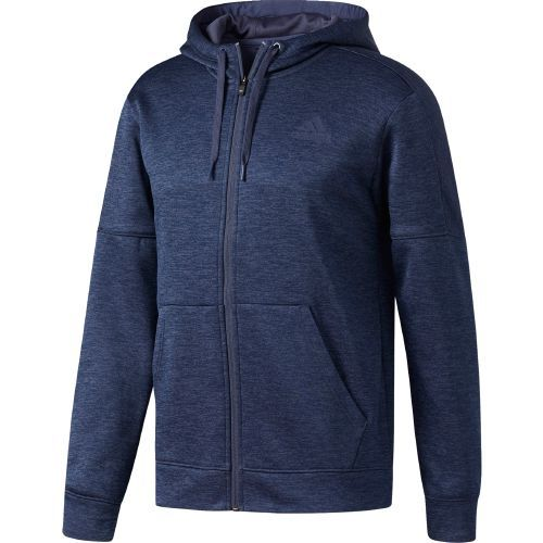Adidas Men's Team Issue Fleece Full-Zip Hoodie (Navy, Size Large) - Men's Athletic Apparel, Men's Athletic Fleece at Academy Sports