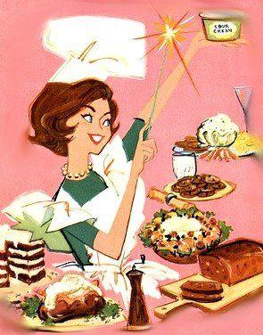 cute vintage ad - kitchen, chef, mom
