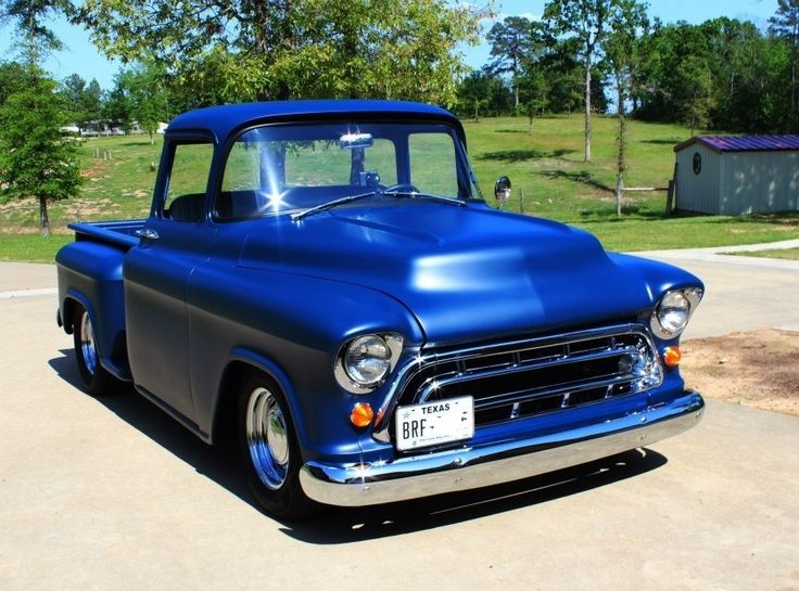 '57 Chevy Truck; I'm seriously in love with any blue 57.