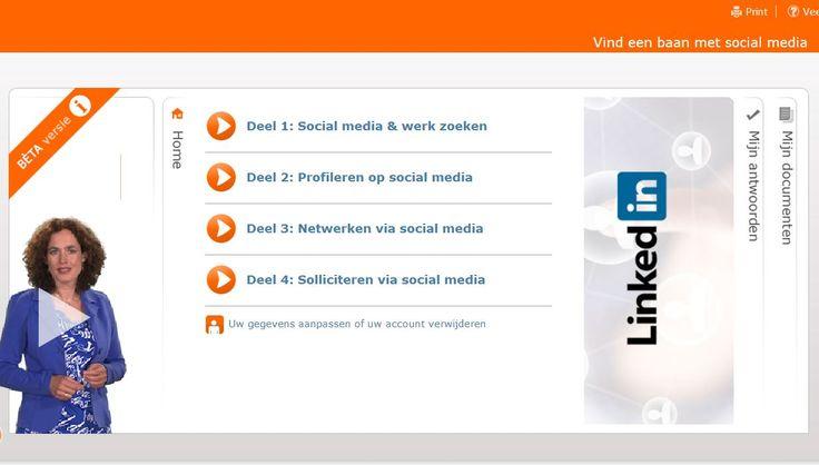 E-learning 'Werk vinden via Social Media' in opdracht van UWV. Taak: conceptontwikkeling, inhoud modules en opdrachten beschrijven en uitwerken. Projectteam: UWV, RadarCommunicatie, RadarVertige, Creapolis