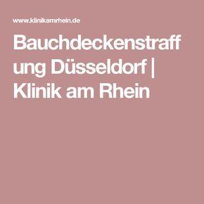 Bauchdeckenstraffung Düsseldorf | Klinik am Rhein