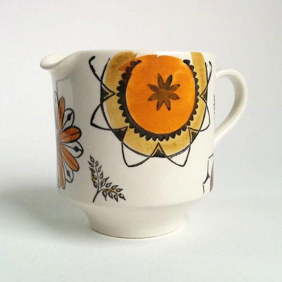 Kathie Winkle Calypso Cream Jug. Vintage 1963 by RodwellandAstor