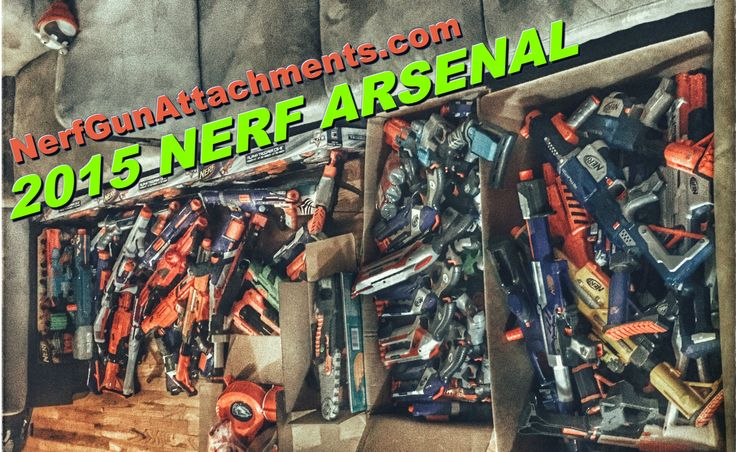 Hey guys! This is Blee from Nerf Gun Attachments (dotcom). Here today, we will be doing an overview of what is, ultimately, my entire Nerf collection. I didn't count them myself, but I wouldn't let that stop you from attempting to count my Nerf blaster collection... If you dare.