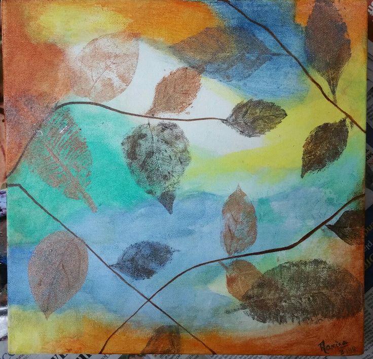 Stamped leaves
