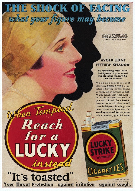 Lucky Strike cigarettes appetite suppression diet