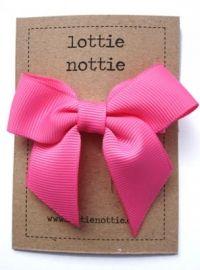 Clip - Large Hot Pink Bow by lottie Nottie