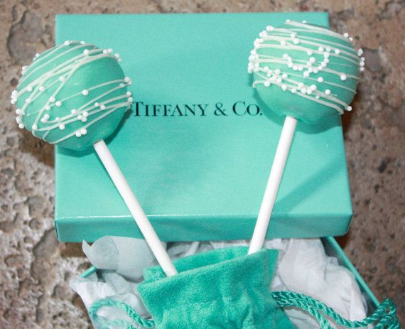 TIFFANY Cake Pops by sweetpopsshop on Etsy, $21.00