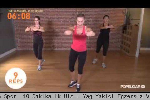 Fit Kızlar  Evde Spor  10 Dakikalık Hızlı Yağ Yakıcı Egzersiz Videosu all body