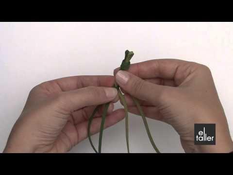 Video tutorial de la técnica de trenza redonda para bisutería. www.eltalleronline.com