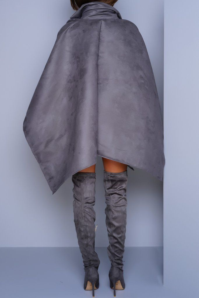One size fits all Cape poncho style Faux suede material