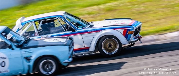 BMW 3.0 CSL and Ford Escort Mk1 RS 2000
