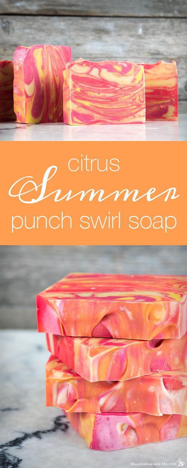 These bright, colourful Citrus Summer Punch Swirl Soap bars are perfect for summer. They smell like fresh, juicy grapefruit and they're basically a swirly chunk of beautiful sunny weather in sudsible form. This soap recipe is also the first soap … Continue reading →