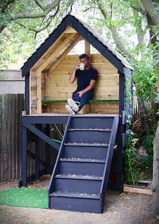 Easy treeless tree house for the home pinterest for Pallet tree fort