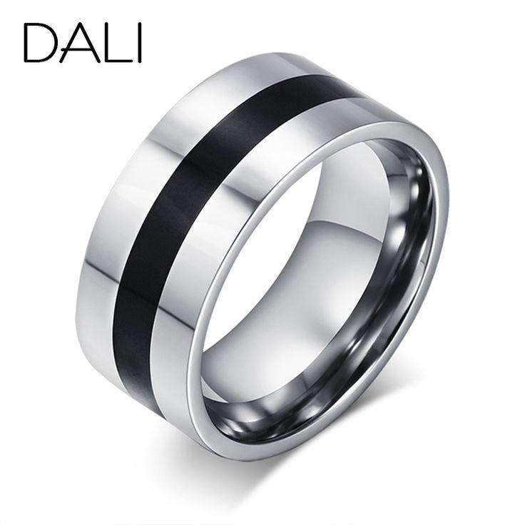 Дали мода мужские титановые стали палец кольца мужские ну вечеринку ювелирные изделия свадебные обручальные кольца WTR59(China (Mainland))