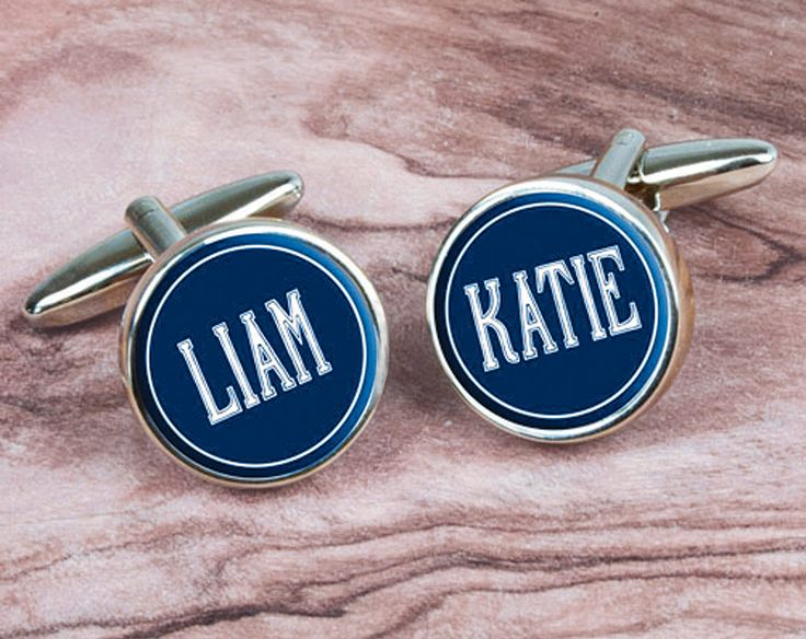 Personalised Deco Cufflinks With Children'S Names £25 Guaranteed to be a conversation piece! Personalise with your children's names or your pet's names or even left and right if you don't know which is which! Made from highly polished chrome.