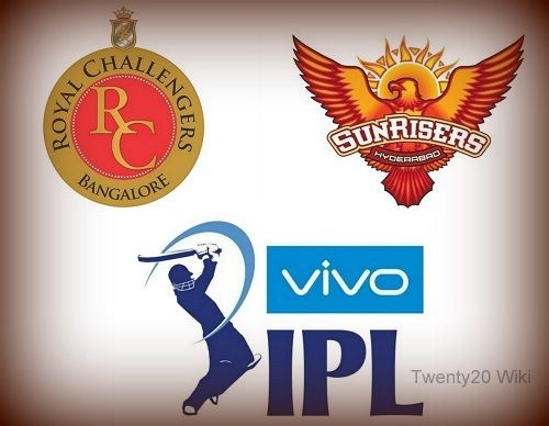 Sunrisers Hyderabad to play Royal Challengers Bangalore in the Vivo IPL 2017 1st match.. #IPL #IPL2017 #IPL10