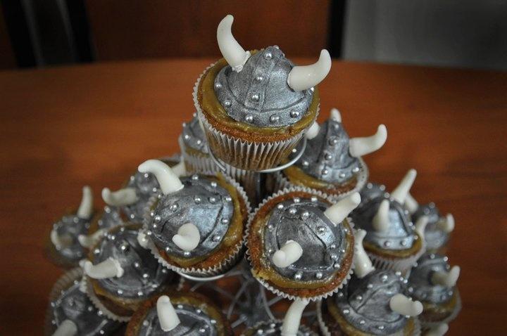 Viking Cupcakes - Cupcakes de Vikingos