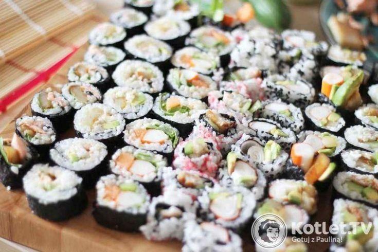 Lubię układać sushi rzędami, każdy rząd to inna rolka