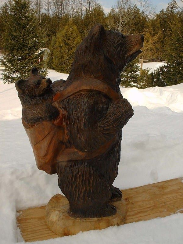 Wood carvings and tree sculptures by jim menken of