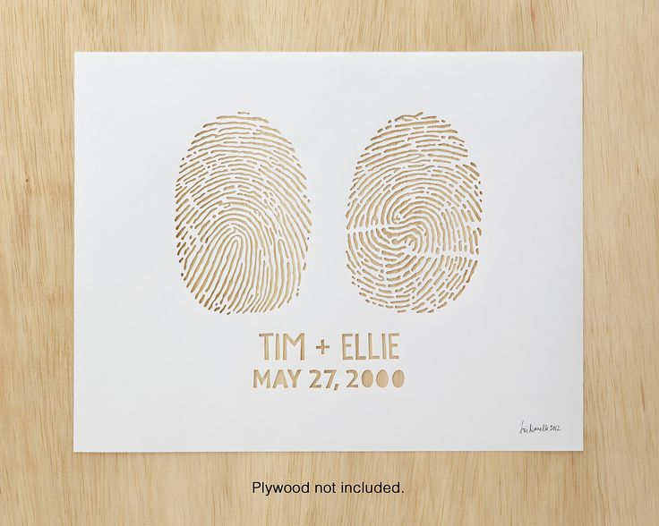 custom fingerprint wall art