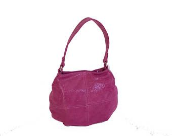 Pink Suede Leather Bag ba1dc4937d572