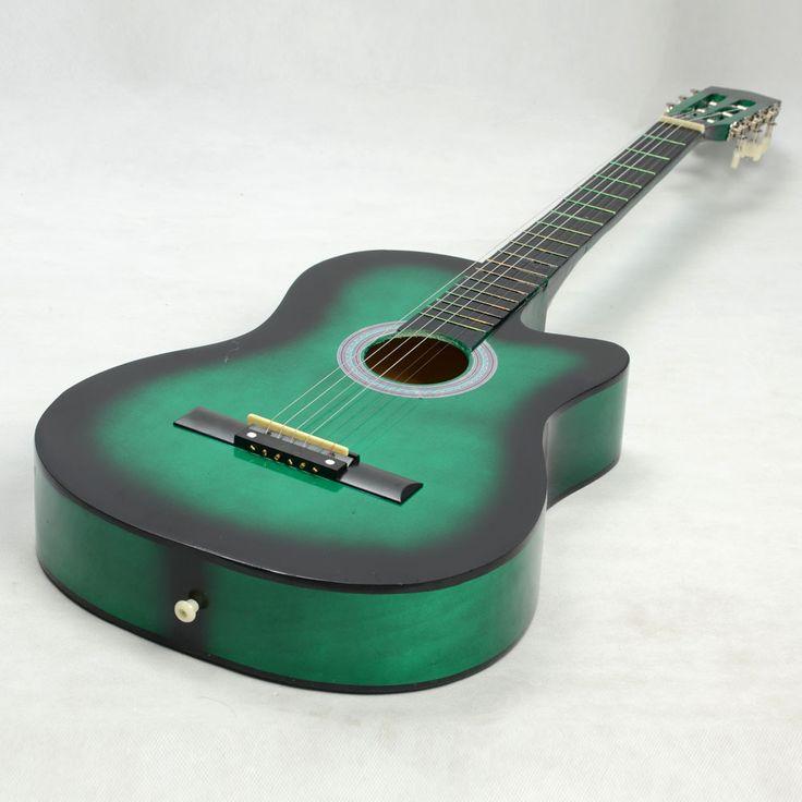 guitare classique verte