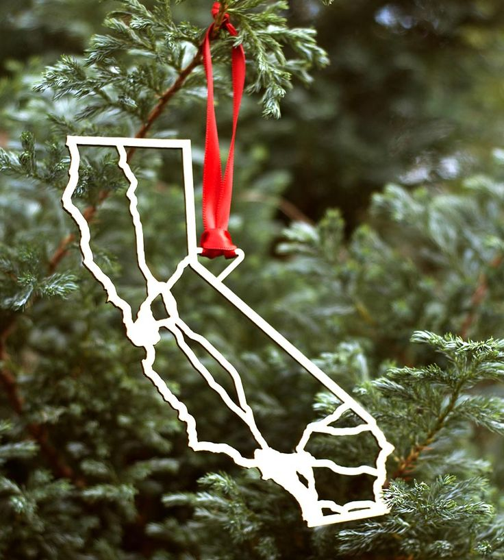 125 best State Christmas Ornaments images on Pinterest  Christmas