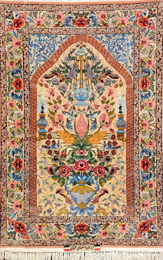 Isfahan Esfahan Fine Rugs Tree Of Life By Loghmani Rugs Persian Rug Fine Rugs