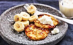 Plättar med cottage cheese och kokos - Recept - Arla