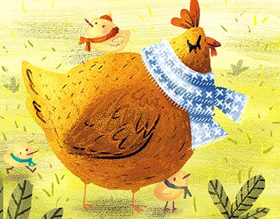 """Check out new work on my @Behance portfolio: """"Autumn and chickens""""…"""