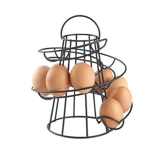 Neotechs® Black Kitchen Storage Spiral Helter Skelter Egg Holder Stand Rack Holds Up To 18 Eggs #Neotechs® #Black #Kitchen #Storage #Spiral #Helter #Skelter #Holder #Stand #Rack #Holds #Eggs