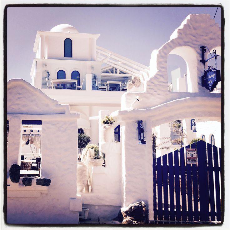 En av många goda restauranger i Ixia på Rhodos
