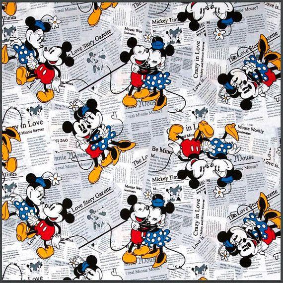 Tela Mickey & Minnie Comic por Tejidosaloloco en Etsy