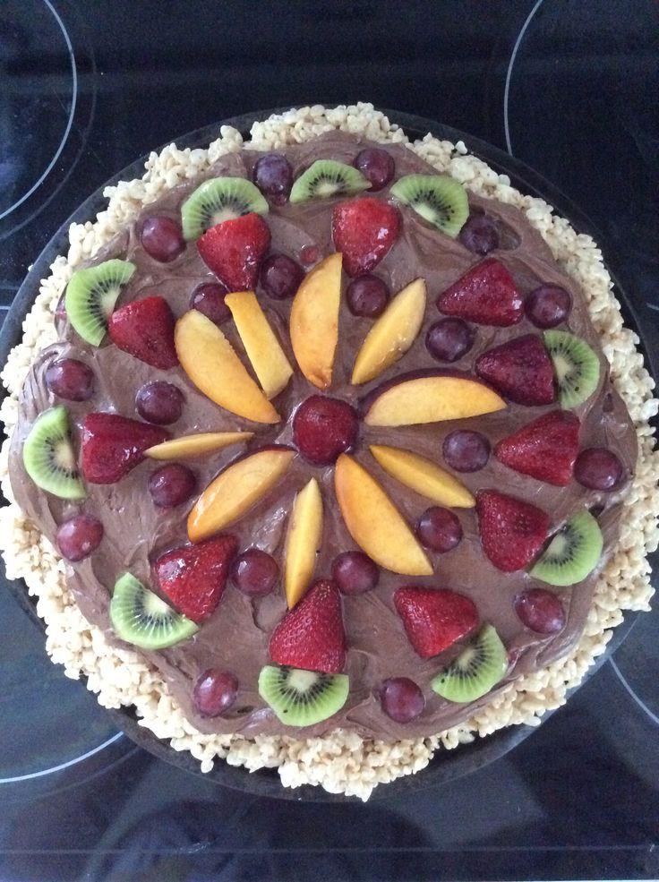 Yummy fruit pizza I made tonight!