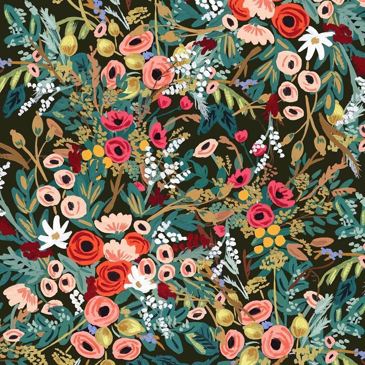 """floral explosion! I'm having fun experimenting with digitally cutting up, piecing together, and layering previous paintings to create new patterns (yes,…"""