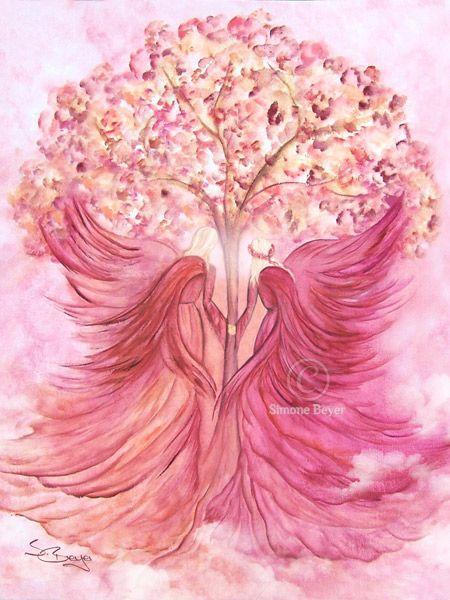 Engelpaar vor dem Baum des Lebens ~ღ~ Forever in Love