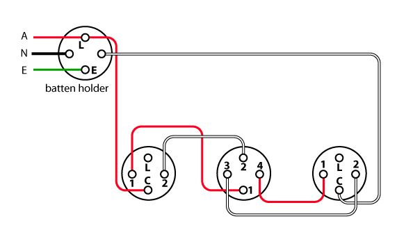 Image showing a wiring diagram of an intermediate lighting