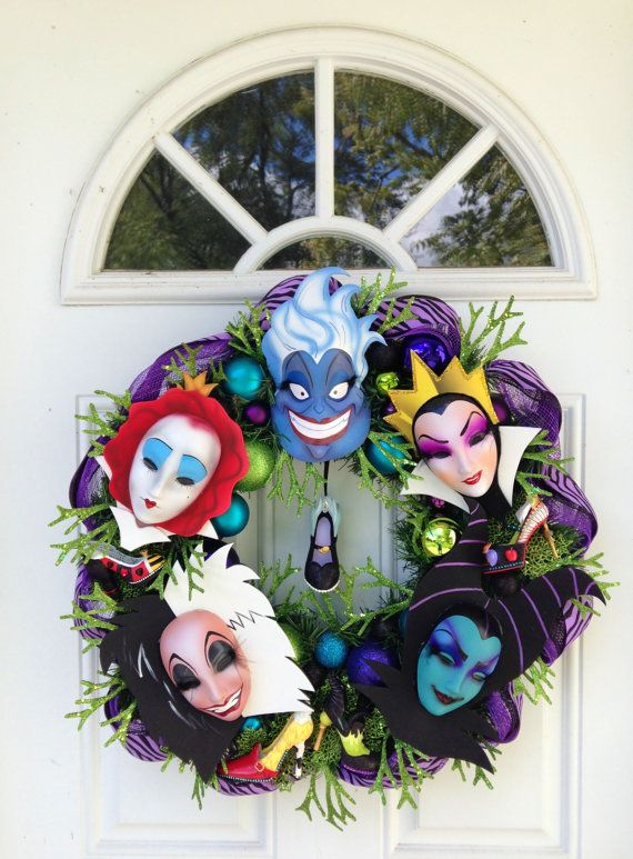 Villain Wreath CUSTOM ORDER ARIEL by SparkleForYourCastle on Etsy                                                                                                                                                                                 More