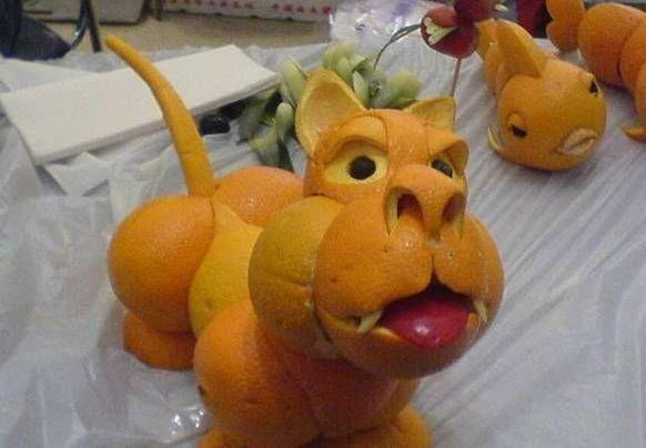 Dog Eat Orange Peel