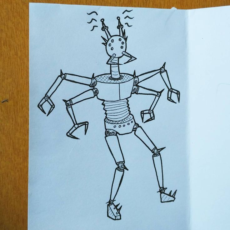 One of the many robots that will be featured in my 'Robots' minizine. ;)…