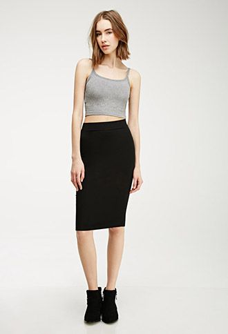 Stretch-Knit Pencil Skirt | Forever21 - 2000115279