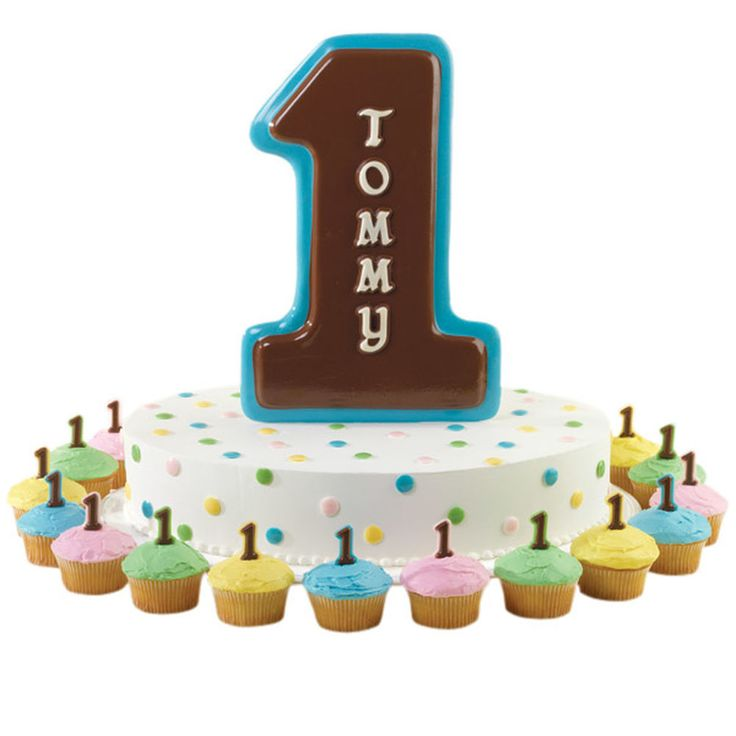 Celebrate a first birthday or first-place win, or just tell someone that they?re the best with a #1 Pan candy plaque. Continue the number one theme by topping cupcakes with candy numerals shaped in our Letters & Numbers Gum Paste and Fondant Mold Set.