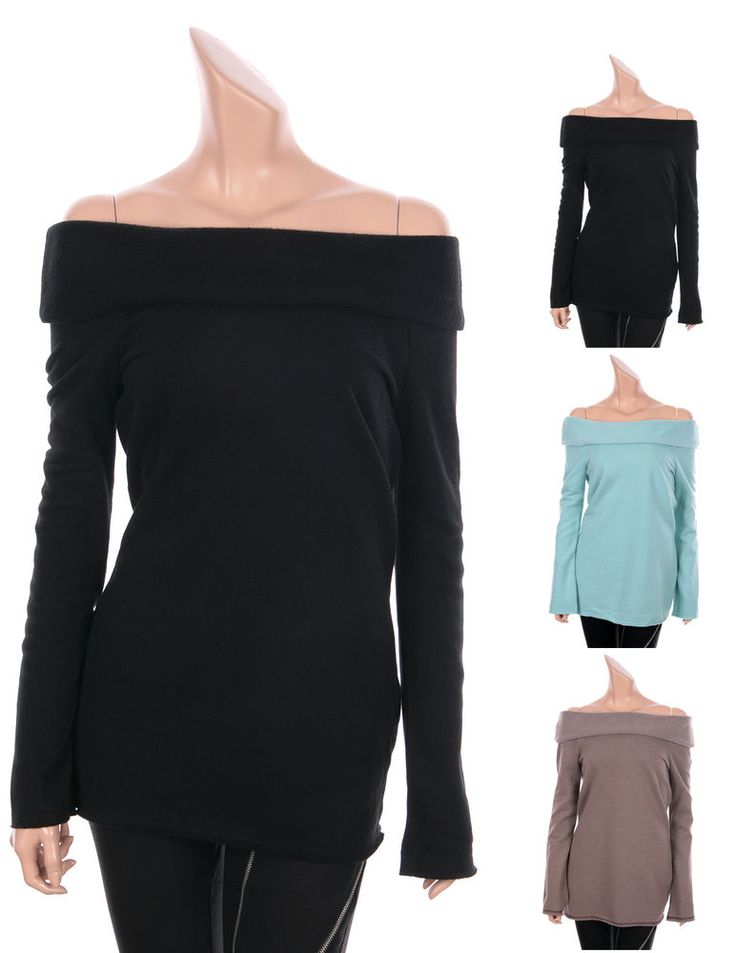 WOMENS SEXY FLEECE OFF-THE-SHOULDER TUNIC LONG TOPS TEES WARM SWEATER, 3 Colors  #GENTFLAPPER #Tunic