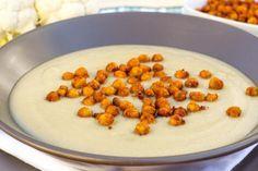 Recept: Květáková polévka s pečenou cizrnou   Vím, co jím
