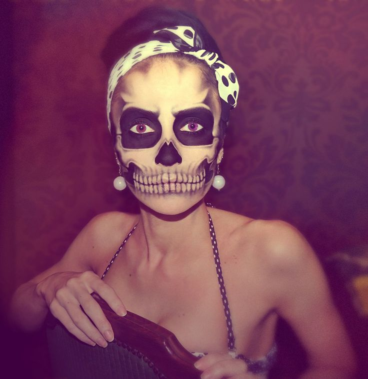 I have no human face. #halloween #skull #makeup