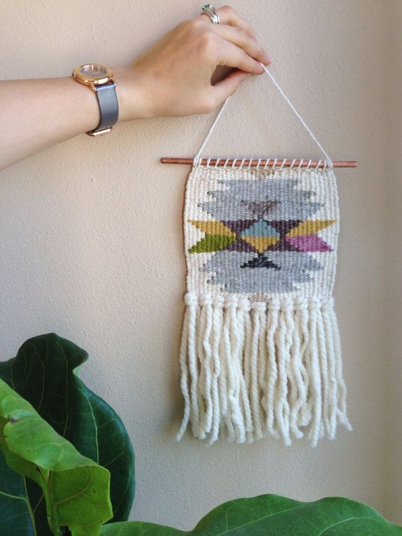 Small Geometric Weaving by Melissa Jenkins on etsy | #MelissaJenkinsDsgns #mjdweavings