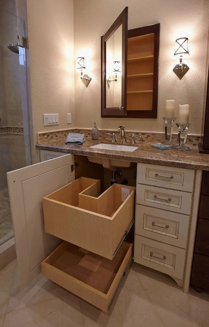 Justin I Like How They Made This Usable Space I Would Also Love To Have An Outlet In One Drawer Right Side Of Vanity Not Cente Small Bathroom Bathroom Renovations Amazing