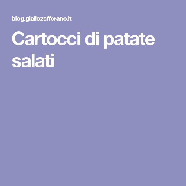 Cartocci di patate salati